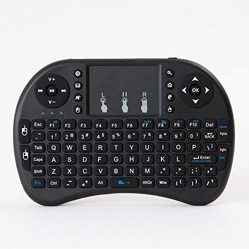 [2018 Updated] H9 2.4GHz Colorful Blacklit Mini Wireless Keyboard with Touchpad Mouse Combo, USB Rechargeable for Raspberry Pi,Google Android TV Box,HTPC,IPTV,PC,PAD,PS4 and More