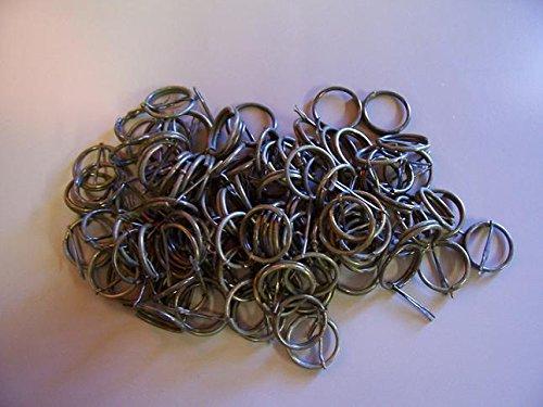 Batch 20 Hand Grenade Rings & Pins USGI Used ; Zipper repair, booney hat & vest decoration