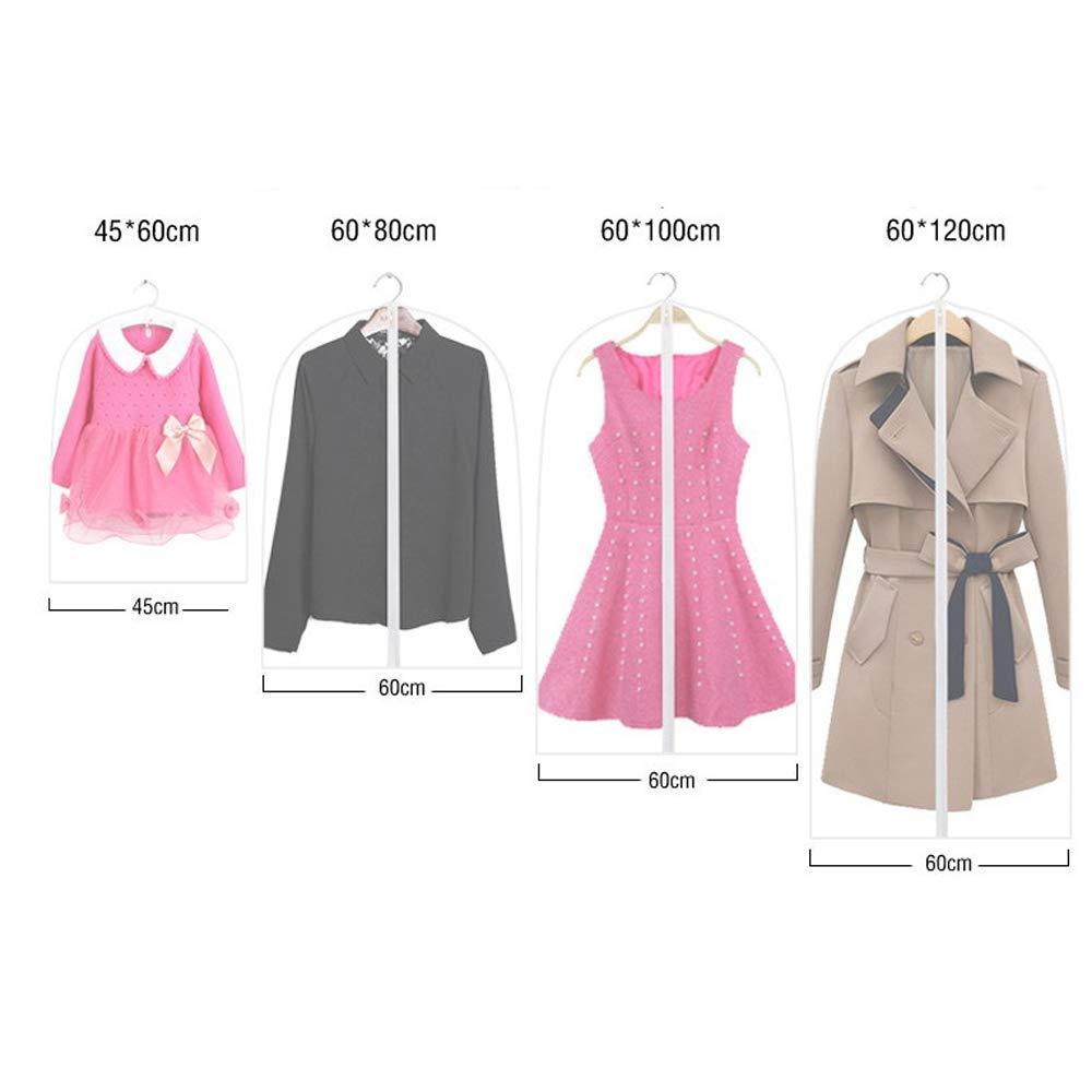 Bruukesh Garment Bag Suit Bag for Storage and Travel Washable Suit Cover for Dress Shirts Coat 5 Pack (60120cm-5pcs)