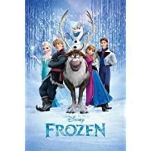 """Frozen - Disney Movie Poster (The Cast) (Size: 24"""" x 36"""") (By POSTER STOP ONLINE)"""