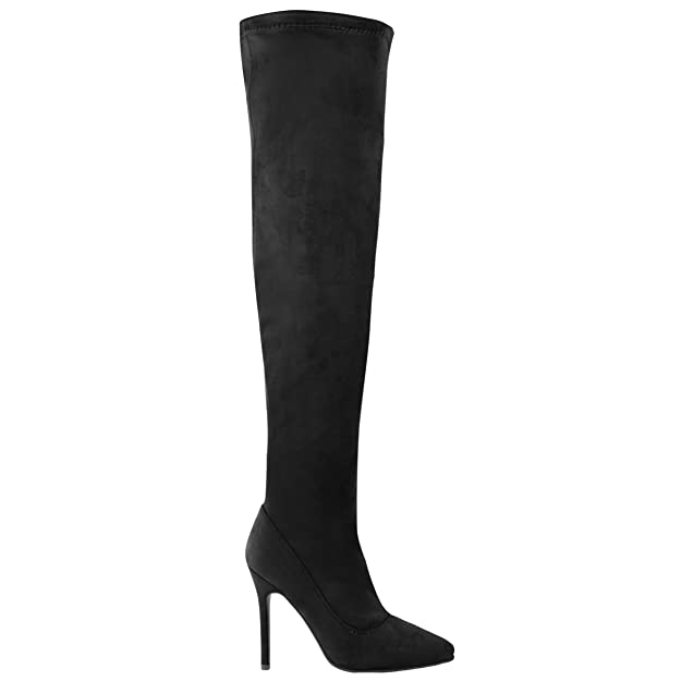 Fashion Thirsty Damen Hoch Schenkelhoch Stilettos Ferse Over Knee Stiefel  Sexy Party GRÖßE  Amazon.de  Schuhe   Handtaschen 7f272c3c8f
