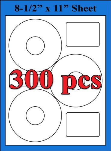 Neato Compatible 3UP CLP-192301 CD DVD EconoMatte Labels Sheets - 300 Labels ()
