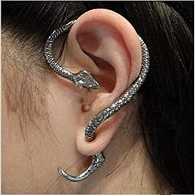 Skull Bone Skeleton Hand Earring Goth Punk Lip Ear Stud Ear Cuff Wrap Clip Q