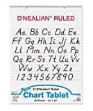 D Nealian Chart Tablet Cursive [Case of 5]
