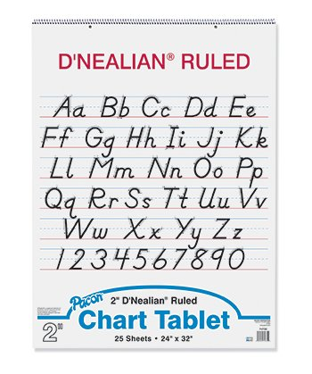 Cs Chart (D Nealian Chart Tablet Cursive [Case of 5])