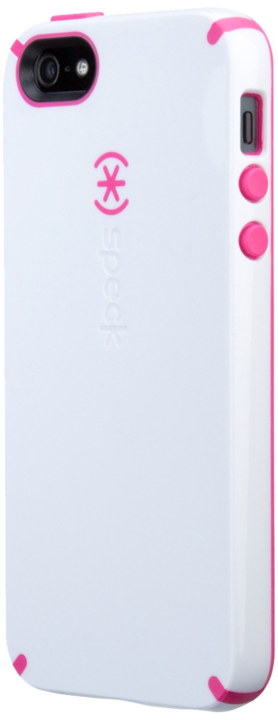 Speck Products CandyShell Case for iPhone SE, 5 & 5s - White/Raspberry Pink
