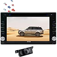 Reverse Camera + In-dash 6.2 inch Android 6.0 Quad Core Head Unit Double Din Car Stereo DVD Player GPS Navigation Radio Phone Link Autoradio Bluetooth SWC USB SD 3G/4G WIFI AUX Dual CAM-IN Touch