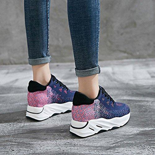 Mujer Zapatillas Exterior de de de Rosa Deportes LFEU Lona 5Ax0dwRq0I