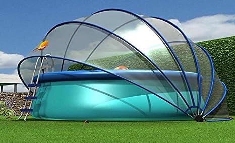 Sunny Tent Estl Tente Ronde Polyvalente Pour Piscines Trampolines Enterres Bacs A Sable Potagers Bassins A Carpes Jacuzzis Taille L Complete Transparente 540 X 540 X 270 Cm Amazon Fr Jardin