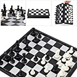 Cicitop Portable Travel Magnetic International Chess Set, Folding Board Box, Ideal Gift for Father and Kids.