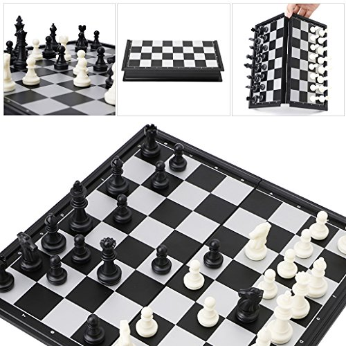 Cicitop Portable Travel Magnetic International Chess Set, Folding Board Box, Ideal Gift for Father and Kids. by Cicitop