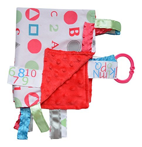 - Baby Sensory, Security & Teething Closed Ribbon Tag Lovey Blanket with Minky Dot Fabric: 14