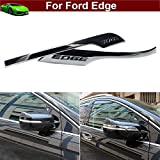 Kaitian 2pcs Chrome Rearview Side Mirror Molding Cover Trim Strip Decorative Emblems for Ford Edge 2015 2016 2017 2018