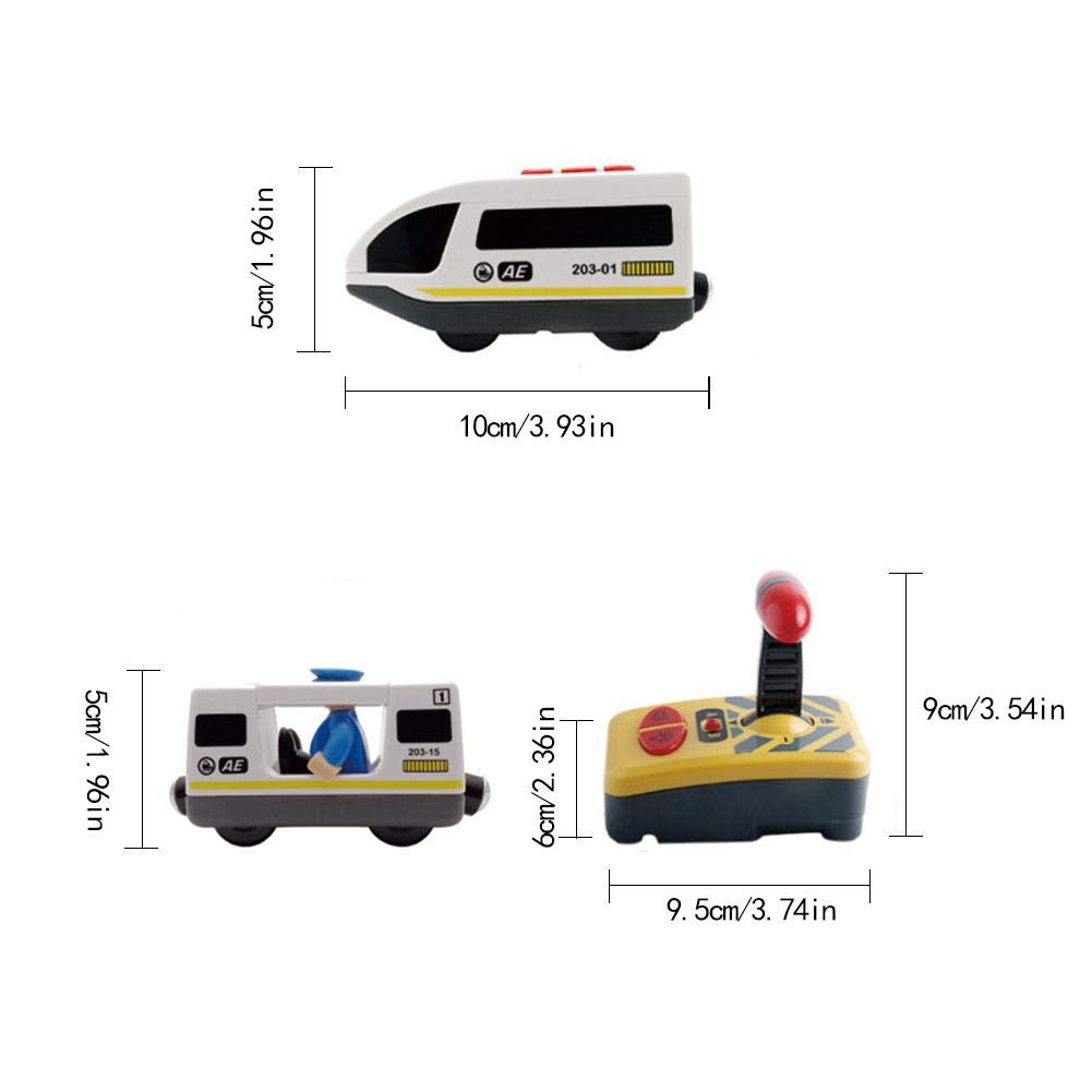 Compatible with for Thomas IKEA BRIO Wooden Track Labyrinen Electric Remote Control Train Toy for Kids Boys