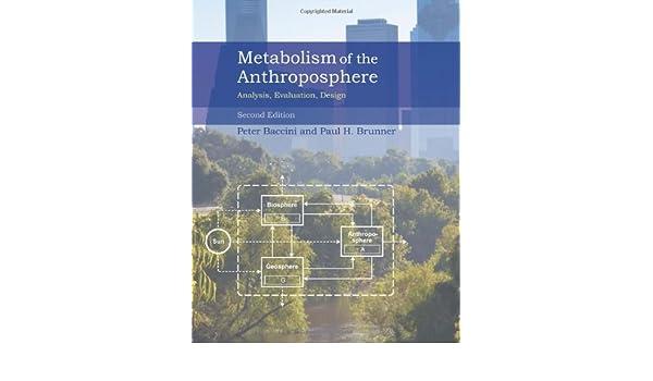amazon com metabolism of the anthroposphere analysis evaluation