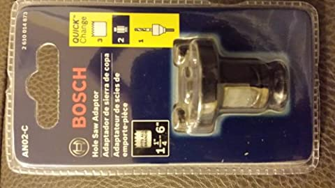 Bosch AN02-C Quick Change Adapter for Hole Saws, 1-1/4-Inch To 6-Inch Sizes (Hole Saw Bosch An02)