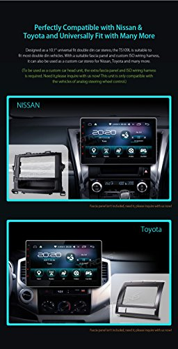 XTRONS/® 10.1 Inch Double 2 Din Android 6.0 Marshmallow Car Stereo Radio Player Quad-Core 16G ROM HD Capacitive Touch Screen Car Multimedia Player GPS Wifi OBD2 Screen Mirroring
