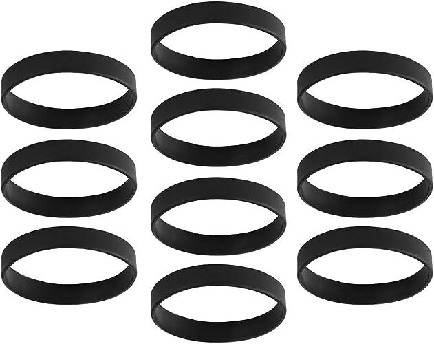10pcs Silicone Wristband Rubber Bracelet Eco-friendly Elastic Fashion Bangle