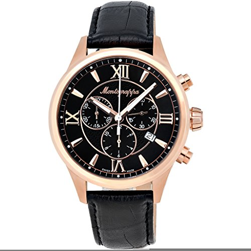 Montegrappa Fortuna Chronograph Men's Rose Gold Watch IDFOWCRC Swiss Made