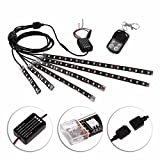 niceEshop(TM) 8pcs Motorcycle LED Light Kit Million Color Flexible Accent Glow Neon Strips with Wireless Remote Controller for Car SUV Truck Bike ATV Interior Exterior
