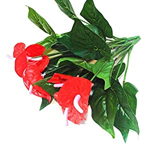 ZJJZH Artificial Decorative Flowers Simulation anthurium Plastic Fake Flower Fortune Head Floor Living Room Decoration Decoration Simulation Potted Flower Flower Products Include:Artificial Flowers. 117