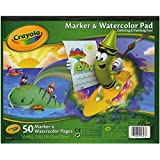 Crayola 10 x 8 Inches Marker and Watercolor Pad, 50 Sheets (AN99-3403)