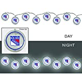 Team Sports America New York Rangers Outdoor Safe Battery Powered String Light Set