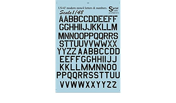 Amazoncom DECAL FOR AIRPLANE USAF MODERN STENCIL LETTERS - Decal numbers lettersusaf modern stencil lettersnumbers whitedecal