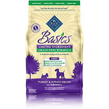 BLUE Basics Limited Ingredient Diet Adult Grain Free Turkey & Potato Dry Dog Food 4-lb