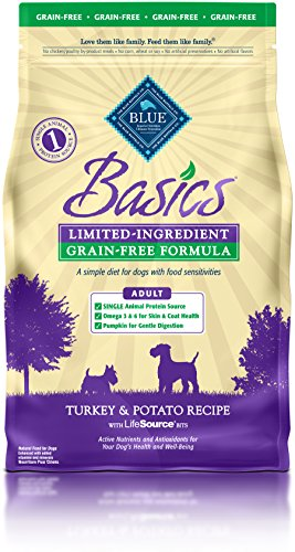 BLUE Basics Limited Ingredient Diet Adult Grain Free Turkey & Potato Dry Dog Food 4-lb
