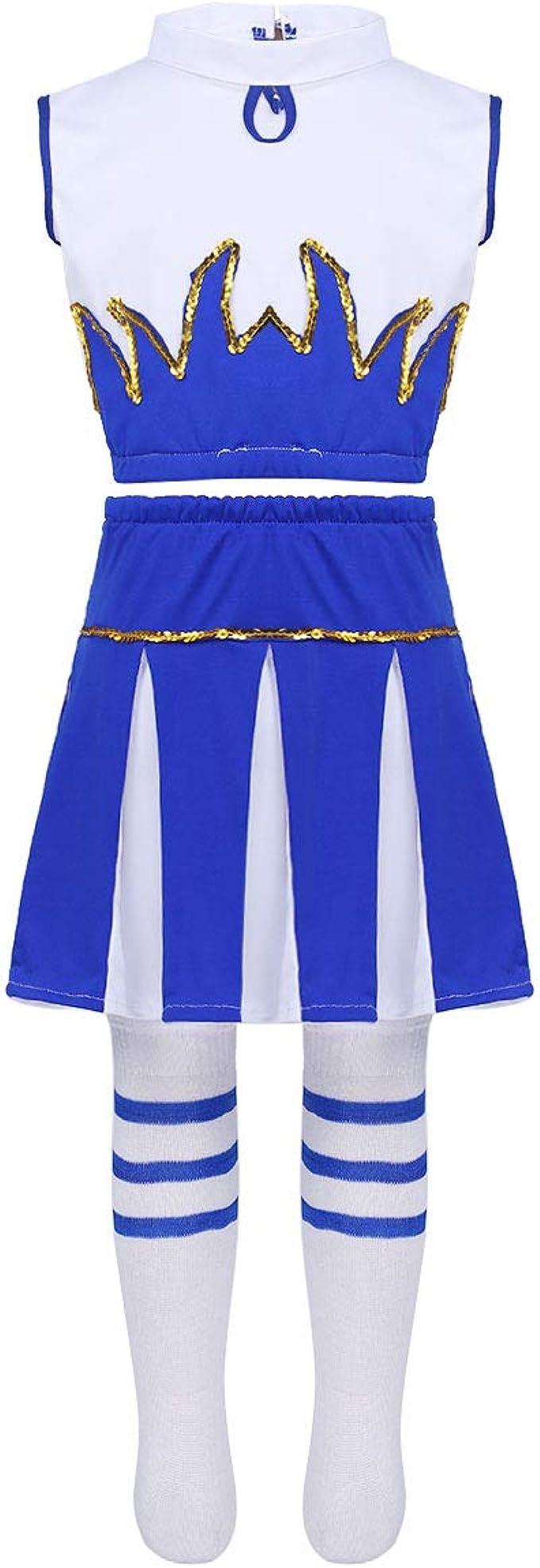 iixpin 3Pcs Disfraces de Animadora Fútibol Tenis Baloncesto Niñas ...