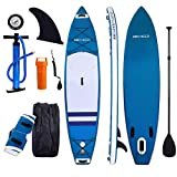ANCHEER Inflatable SUP Stand-Up Paddle Board Package, Double Layer Blue Deal