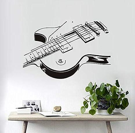 xlei Etiqueta De La Pared De La Guitarra Eléctrica Etiqueta De La Pared 3D PVC Creativo