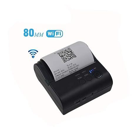 RORJH 80Mm Impresora Portátil, WiFi Inalámbrica De La ...