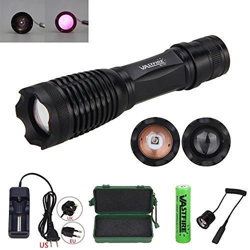 VASTFIRE Focusable Infrared Flashlight IR Light Thermal Hog Hunt Fox Rat Night Vision Hunting NOT Regular Flashlight BUT Infrared Illuminator