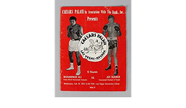 1973 Muhammad Ali vs. Joe Bugner Boxing Fight Program at Amazons Sports Collectibles Store