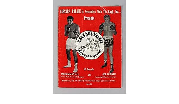1973 Muhammad Ali vs. Joe Bugner Boxing Fight Program at Amazons Sports Collectibles Store