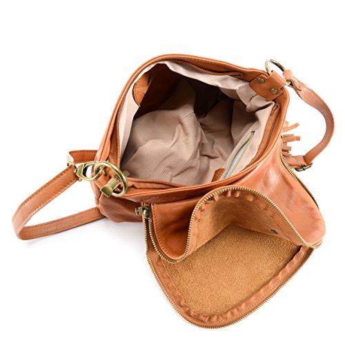 Borsa pelle piena di cuoio donna - Modello 72 ore (piccolo) - Borsa a tracolla - 30 x 22 x 8 cm (L x L x A)