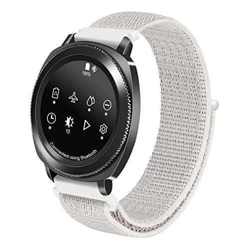 Pwkutn Betterconn 20mm Woven Nylon Sport Breathable Loop Watchband Wrist Strap for Samsung Gear Sport/Gear S2 Classic/Vivoactive 3/Amazfit Bip Smart Watch Seashell