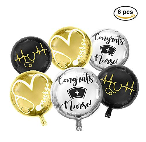 Nursing Graduation Pinning Class Celebration Balloon Decorations Supplies Bouquet kit New Design by Bax Party Supply