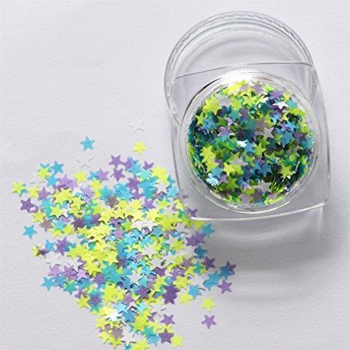 2mm Mixed Color Nail Art Paillette DIY Nail Tips Glitter Nail Decoration (Multicolor) - 2