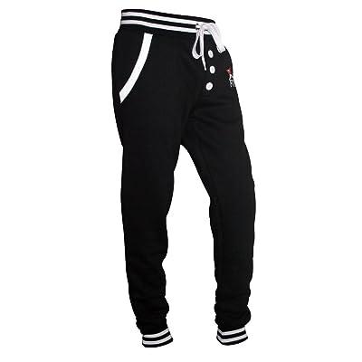 X-2 Men's Fleece Slim Active Joggers Tracksuit Running Pants Athletic Sweatpants