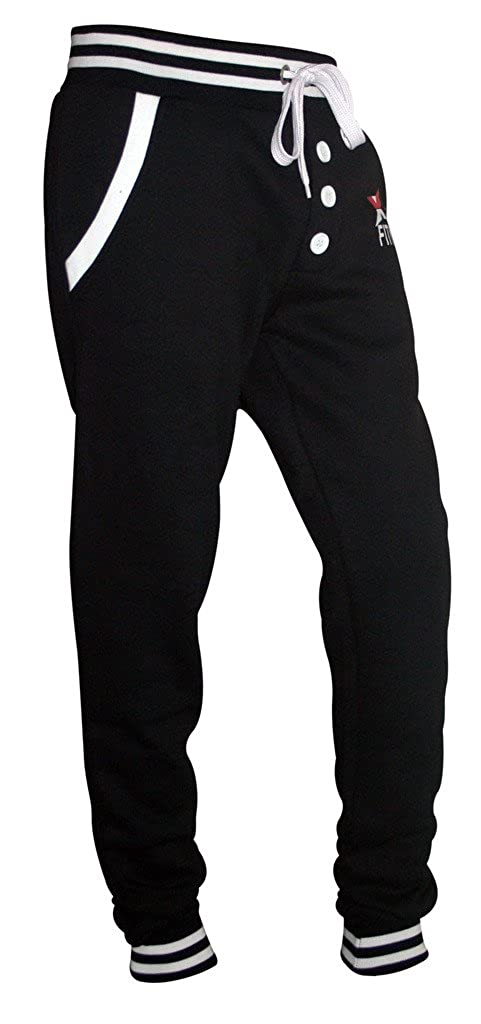 X-2 Men's Fleece Slim Active Joggers Tracksuit Running Pants Athletic Sweatpants