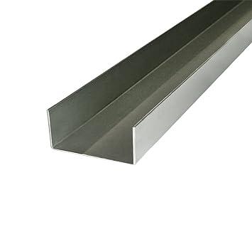 Perfil de inox acero cepillado u 52 x 80 x 52 x 2 mm por ...