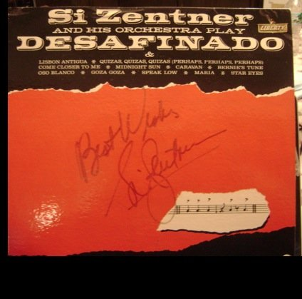 {Autograph} Desifinado, The Bossa Nova Beat! LP Signed By Si Zentner.