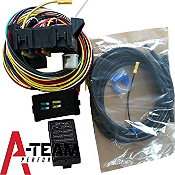 amazon com a team performance 8 circuit basic wire kit small a team performance 8 circuit basic wire kit small wiring harness rat street rod sand