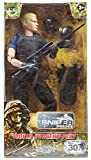 Army Men by World Peacekeepers Action Figures: 30-Pt. Full-Motion 12-Inch Army Toys w/ Ninja Grip, Military Sniper Rifle, Binocs, Pack & Kevlar (SWAT)