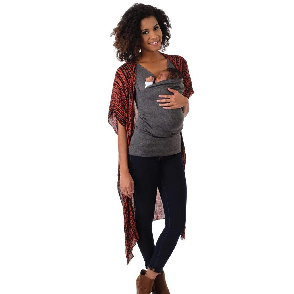 Women's Kangaroo Mommy Pocket Tops - Sleeveless Blouse Breastfeeding T-Shirt Blouse,2019 New Arrival Fashion