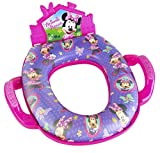 Disney Minnie Mouse Deluxe Sound Potty Seat - Padded, Soft, and Durable - For Regular and Elongated Toilets - Removable Cushion for Easy Cleaning - Firm Grip Handles