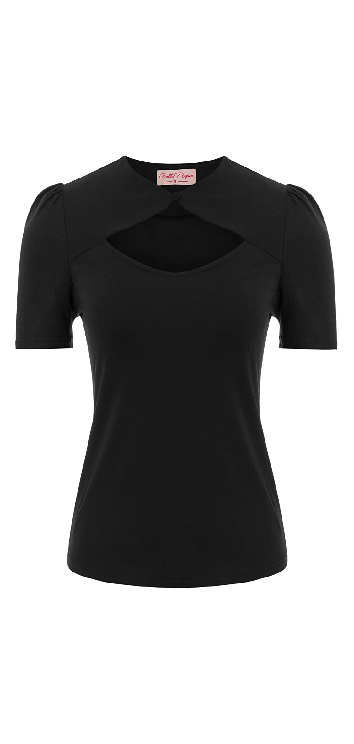 Womens Sexy Hollowed-out Tops S Retro Vintage